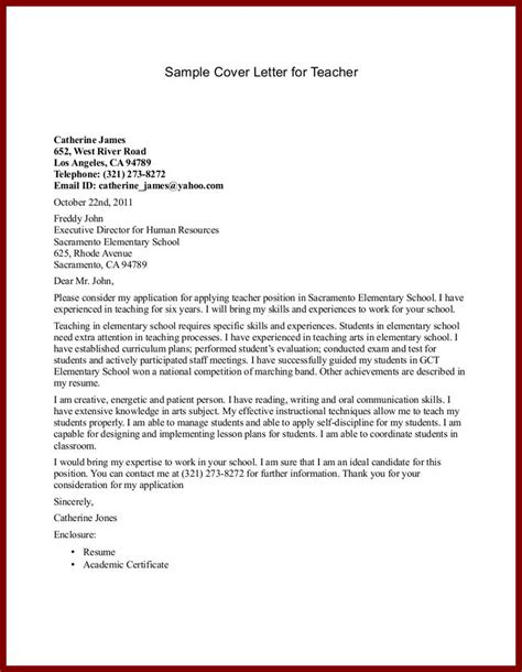 Cover Letter For A School by Cover Letter For Primary School Admission Cover Letter Templates