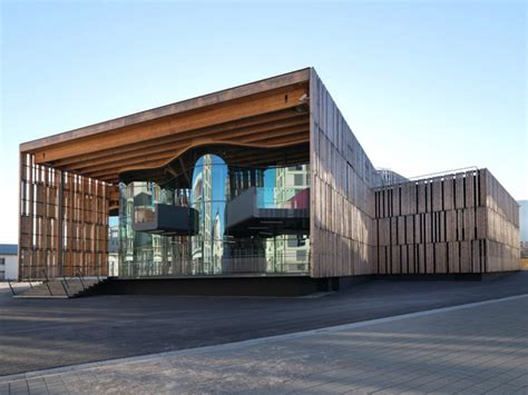 timber architecture la belle electrique is a timber clad concert hall built