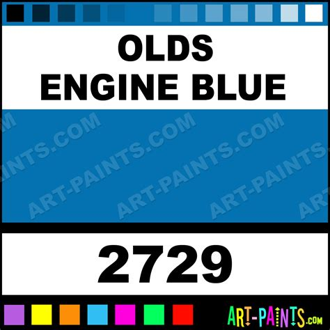 engine enamel color chart