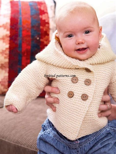 baby hoodie knitting pattern knitted baby stitches and yarns on