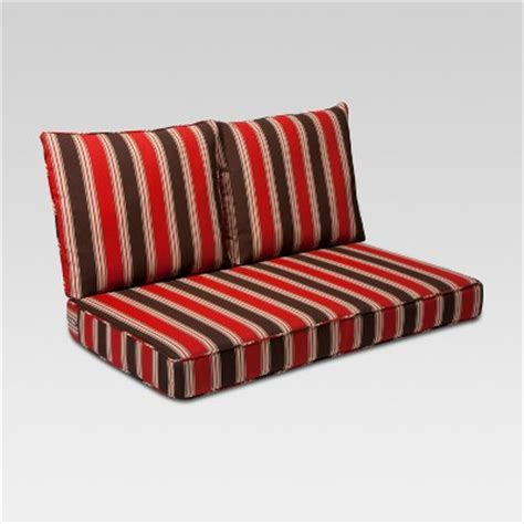 outdoor settee cushions set of 3 clearance rolston 3pc outdoor replacement loveseat cushion set