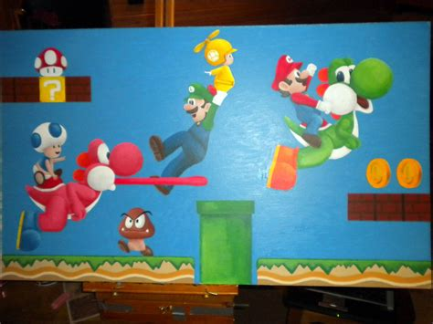 painting mario mario bros wii painting by britkneemo on deviantart