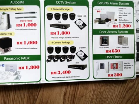 malaysia cctv security door access alarm auto gate