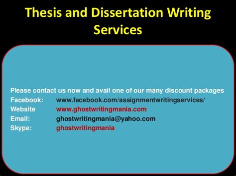 dissertation writing services thesis and dissertation writing services