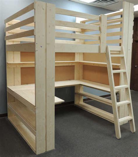 workstation loft bed specs order form   usa
