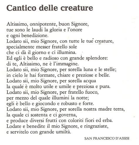 san francesco testo il cantico dei cantici testo san francesco
