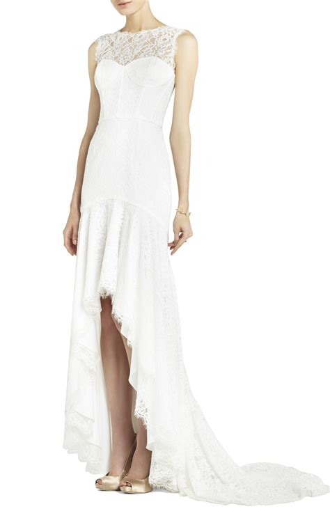 Clarisa Dress bcbgmaxazria clarissa sleeveless lace high low gown bcbg