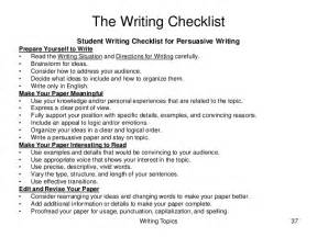 Writing Your College Essay Checklist by Help Essay Students School For Writing High