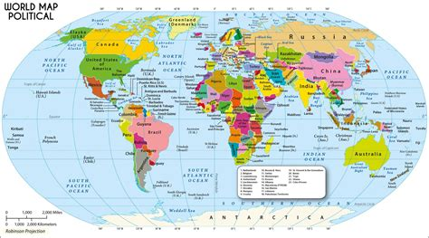 large world map  robinson projection maps