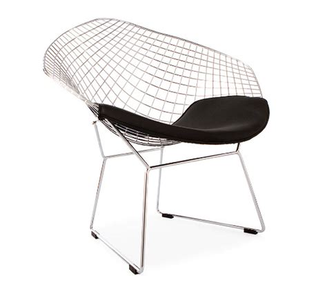 Bertoia Style Chair by Black Chrome Retro Bertoia Style Mesh Chair By Ciel