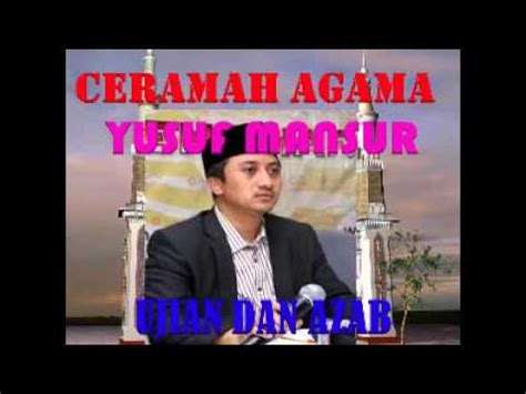 download mp3 ceramah yusuf mansur 2014 ceramah agama yusuf mansur judul ujian dan azab youtube