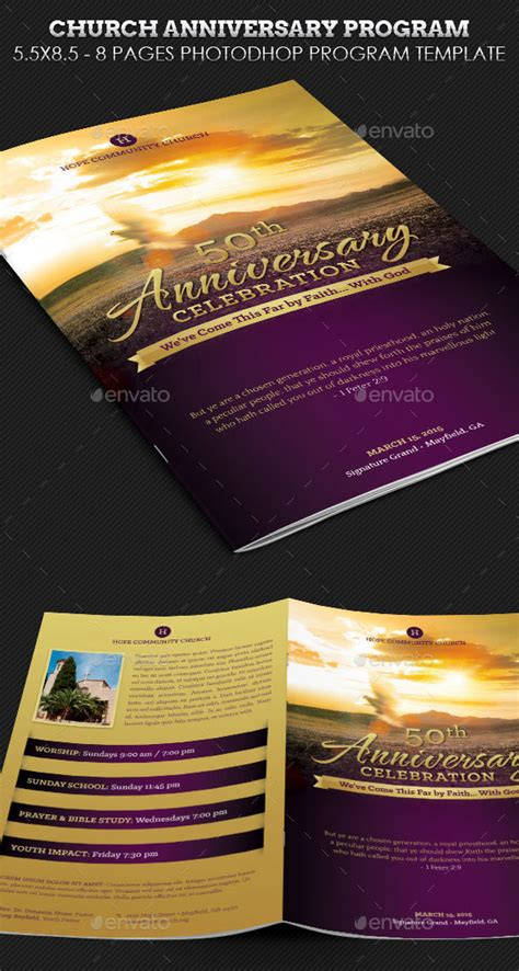30 Eye Catching Psd Indesign Brochure Templates Web Graphic Design Bashooka Church Anniversary Program Template