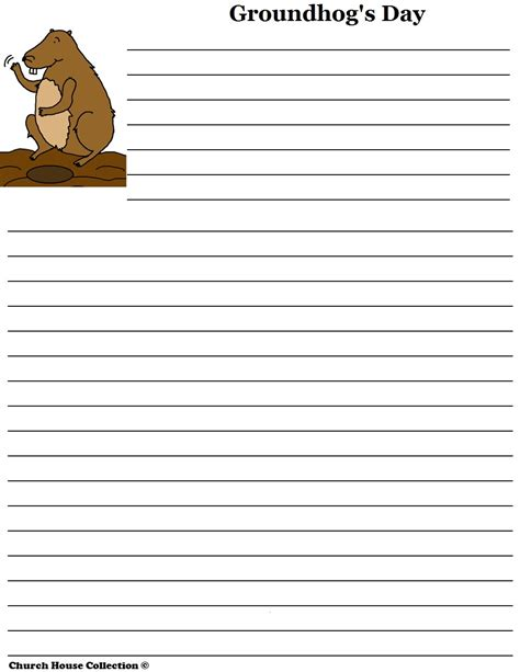 groundhog day writing paper church house collection groundhog day writing paper