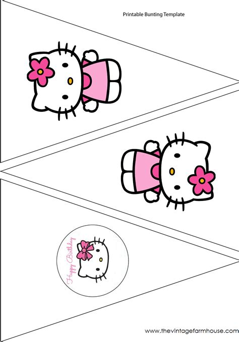 hello kitty printable party decorations free the vintage farmhouse hello kitty party free printables