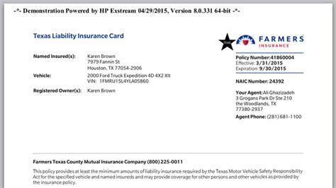 proof of insurance id card template farmers insurance proof of insurance