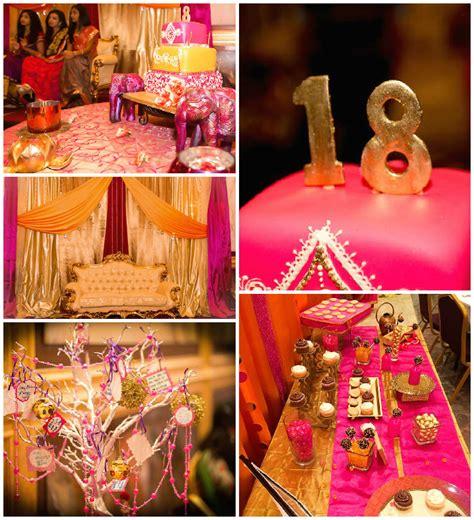 Kara's Party Ideas Royal Bollywood Themed 18th Birthday Party
