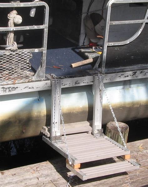 dog boat ladder diy dog ladder for pontoon boat google search tom