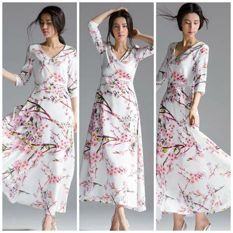 Dress Maxi Wanita Muslim Brokat Lace Import Aruna Xl dress motif floral maxi dress korea dress cantik