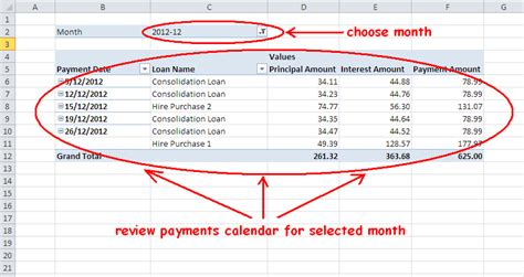 loan repayment schedule office templates