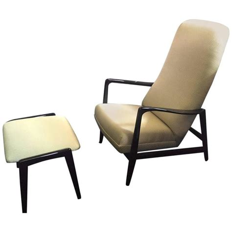 high back chair with ottoman mid century high back lounge chair with ottoman by gio