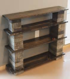 diy rustic cinder block bookshelf with wooden boards decofurnish