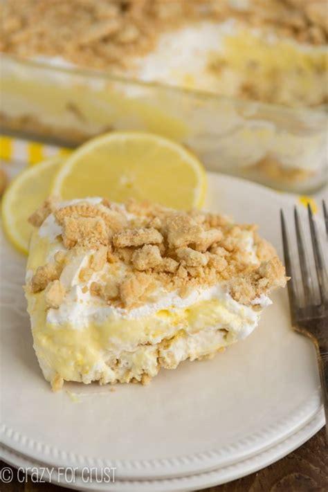 no bake golden oreo lemon dessert crazy for crust