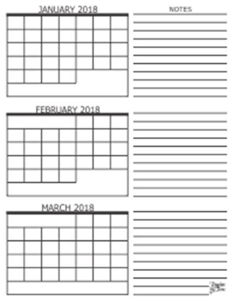 Calendar 2018 3 Months 3 Month Calendar 2018
