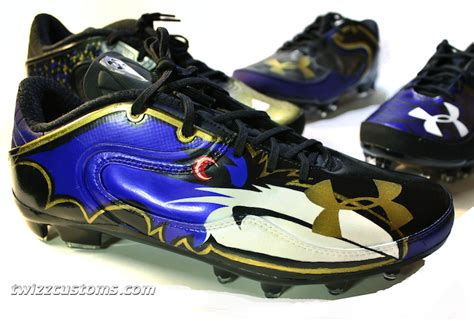customize football shoes baltimore ravens armour custom cleats for lardarius webb