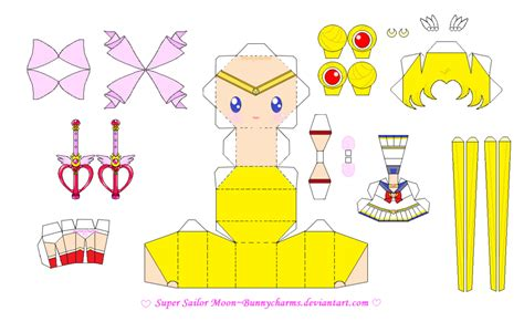 Sailor Moon Papercraft - sailor moon papercraft template by bunnycharms on