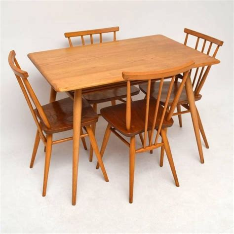 Vintage Ercol Dining Table And Chairs Retro Elm Dining Table And Chairs By Ercol Vintage 1960s At 1stdibs