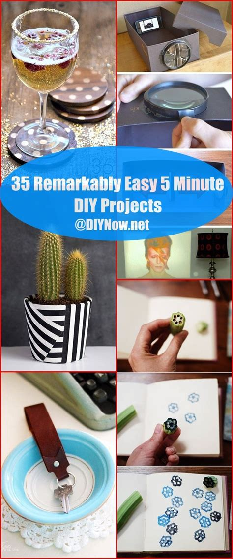 5 Midweek Diy Projects by 35 Remarkably Easy 5 Minute Diy Projects Diynow Net