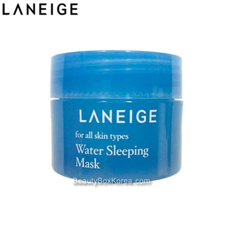 Promo Laneige Water Sleeping Mask 15 Ml All Skin Types box korea mini laneige water sleeping mask 15ml