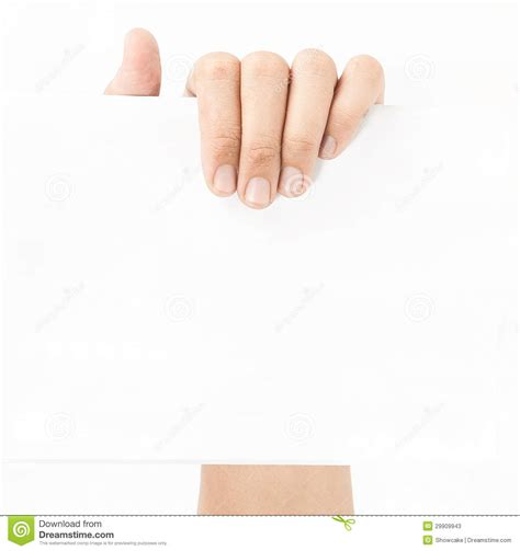 How To Make Paper Holding - holding white empty paper stock image image 29909943