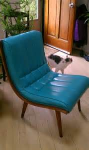 Vinyl For Chair Upholstery Armless Turquoise Vinyl Chair Modern Upholstered C