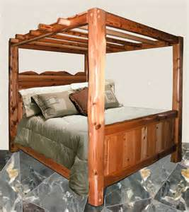 Wooden Canopy Bed Canopy Beds Solid Wood Beds King Beds Log Beds Wood Beds