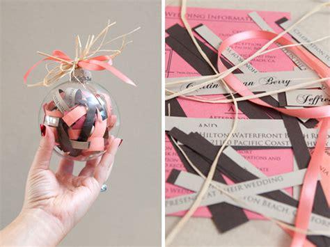 Wedding Invitation Ornament by Diy We Wedding Invitation Ornament Bridalguide