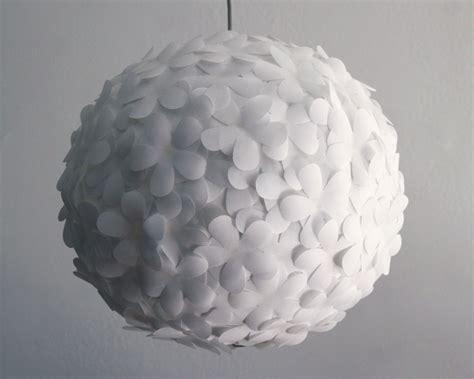 White Flower Pendant Light White Paper Flower Pendant Light The 3 R S