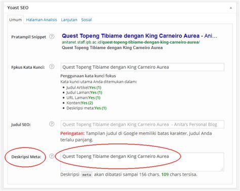 cara membuat blog fb cara membuat deskripsi blog yang di share di fb anita s