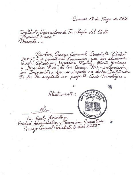 carta de aceptacin de comisario facebookcom sascom carta de aceptaci 243 n temporal
