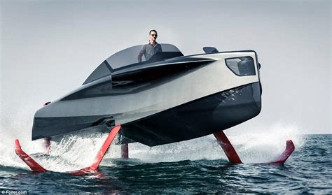 catamaran vs hydrofoil enata marine s foiler revealed daily mail online