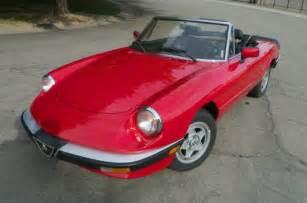 Spider For Sale 1988 Alfa Romeo Spider Graduate Convertible For Sale