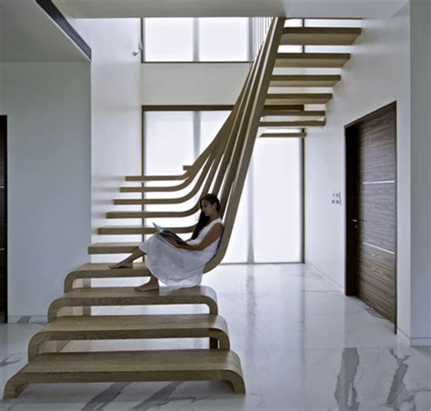 Curved Stairs Design Cascading Stair Plans Studio Design Gallery Best Design