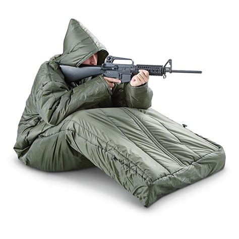sleeping bag hq issue tactical sleeping bag with arms 423975 rectangle bags at sportsman s guide