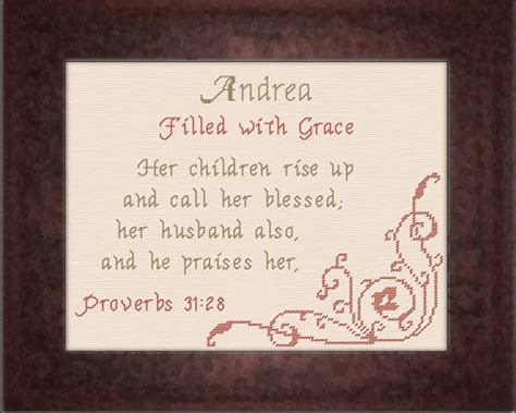 Wedding Blessing Meaning by Name Blessings Andrea Personalized Names With Meanings