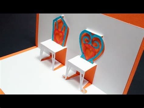 chair template made out of cards how to make a pop up chairs card free template