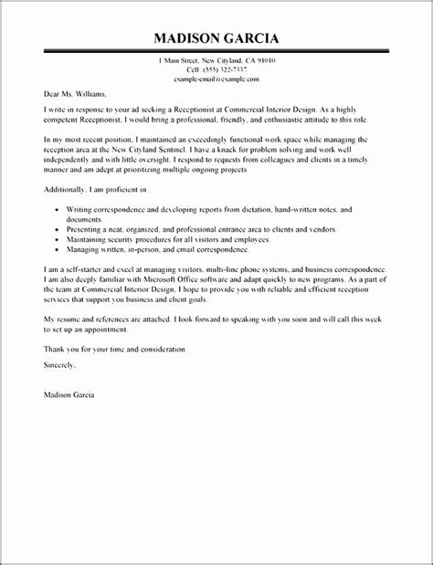 how to write application letter as a receptionist 13 best format on how to write an application letter for a