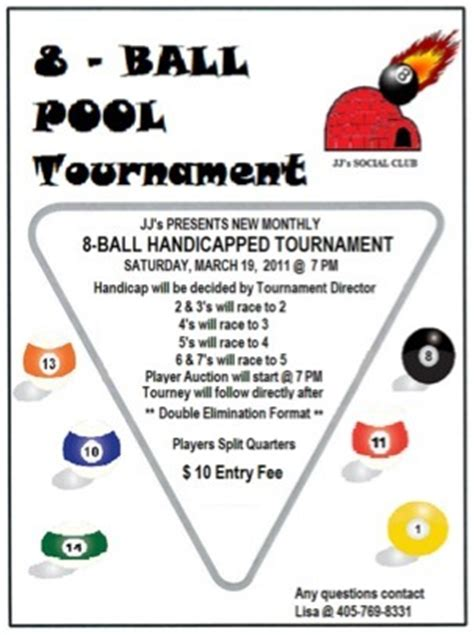 Pool Tournament Flyer Template
