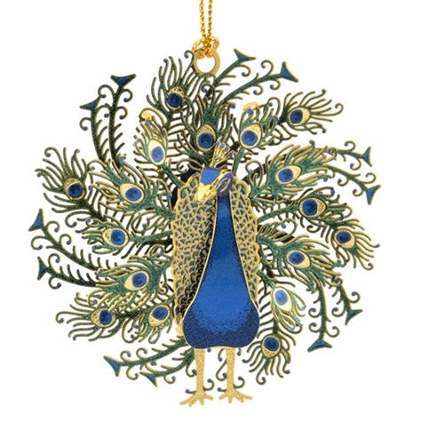 Handcrafted In The Usa - peacock ornament handcrafted in the usa item 53148