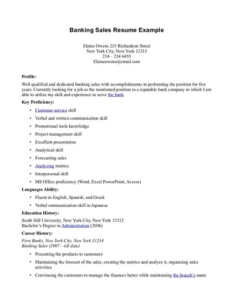 banking resume for mba sales banking lewesmr