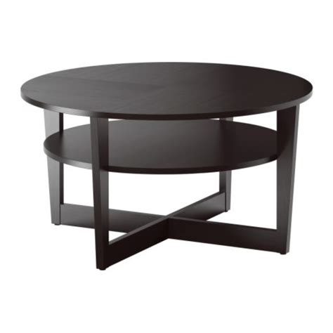 vejmon table basse brun noir ikea